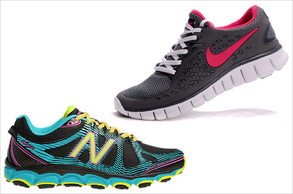New Balance 810v2 and Nike free run