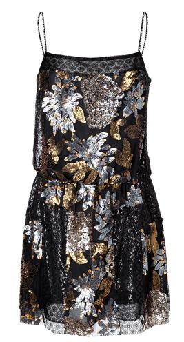 Nuits Dress in Black Multi i