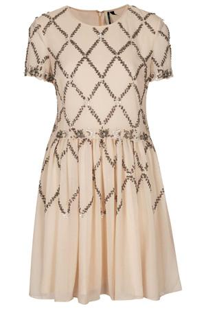 Cross Embellished Skater Dress