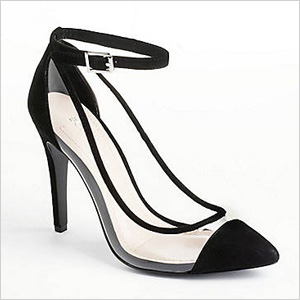 Cynthia Transparent Suede Pumps