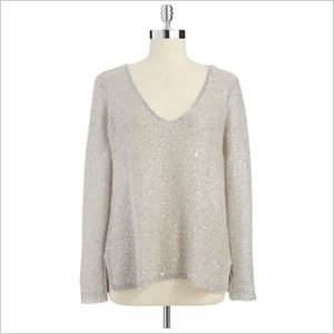 BB Dakota Sequined V-Neck Sweater (Lord & Taylor, $47)