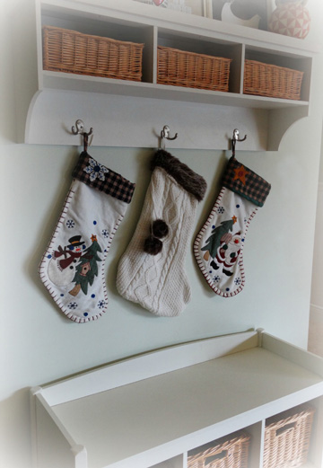 Hang stockings from a hook