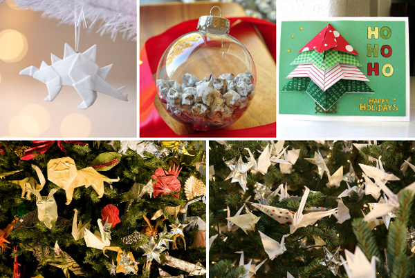 Origami intricacy Christmas theme