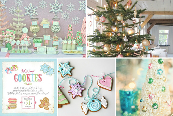 Pleasant pastels Christmas tree