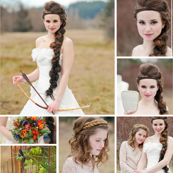Wedding Hairstyle Game: The Hunger Games-inspired Wedding Ideas