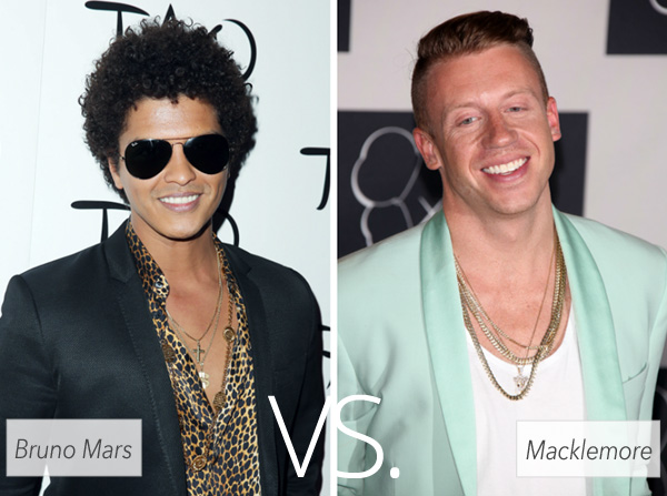 Who's hotter: Bruno Mars vs. Macklemore