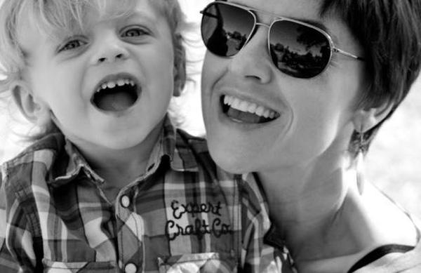 Agnieszka with son