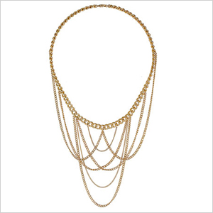 Gold Chain Drape Necklace (Dorothy Perkins, $15)