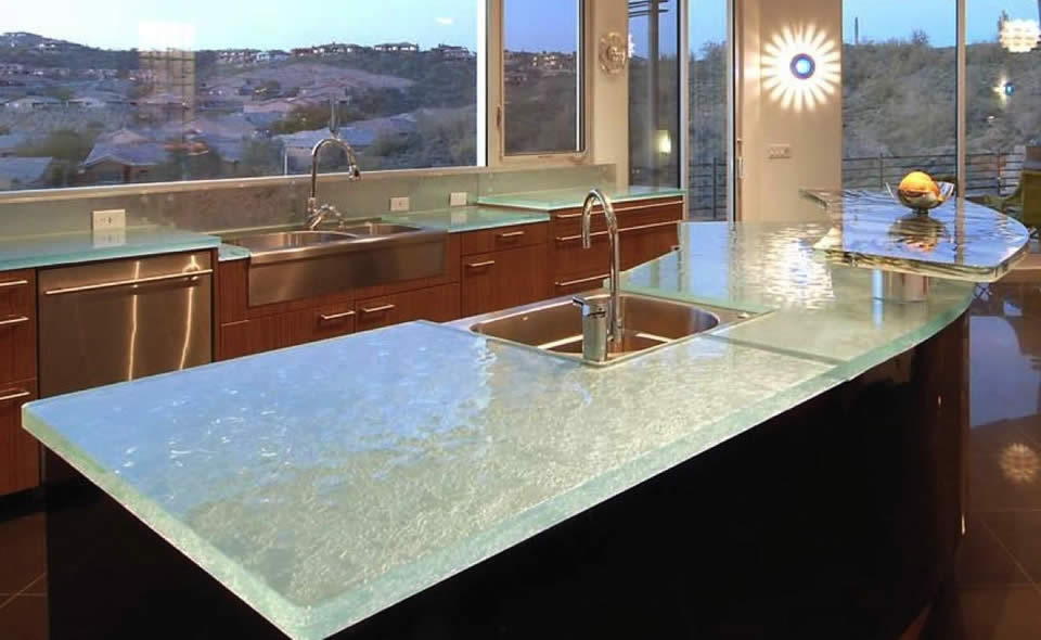 Glass countertop
