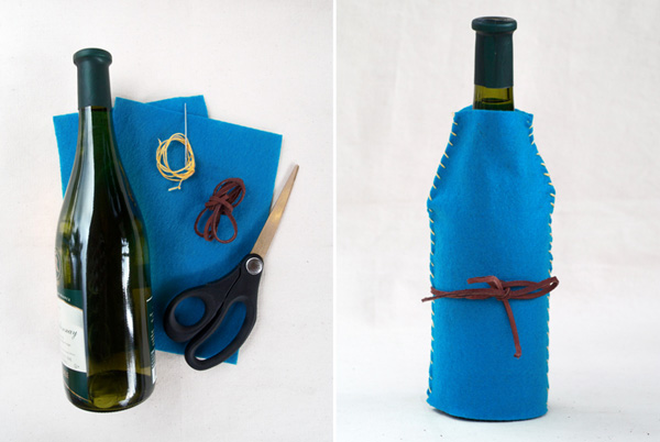 DIY wine-bottle felt