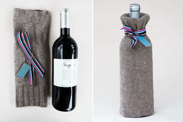 DIY wine bag sleeve