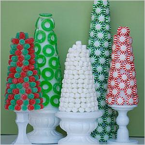 Candy christmas trees centerpiece | Sheknows.com
