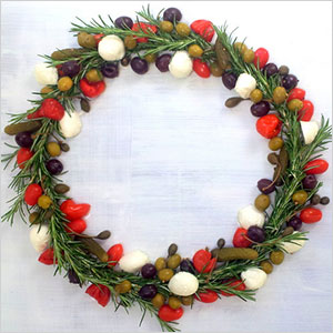 Rosemary and olive wreath centerpiece | Sheknows.com