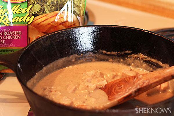 Skinny one-pot chicken Alfredo | Sheknows.com - add chicken