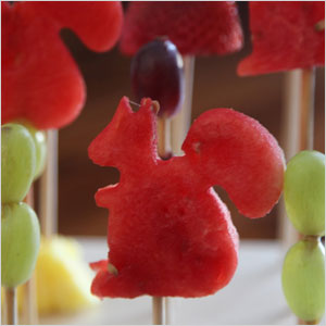 Squirrel fruit kebab snack | Sheknows.com