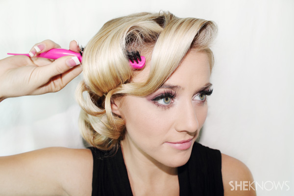 January Jones party hairstyle tutorial