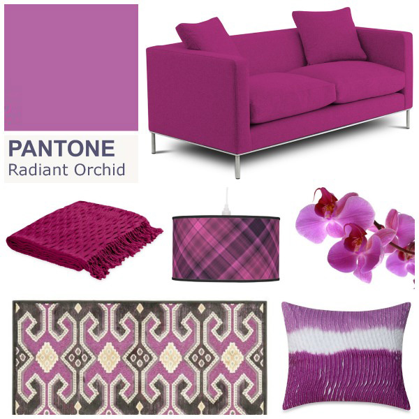 Decorate your home with Pantone's Radiant Orchid