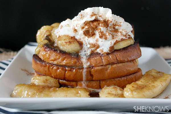 Banana French Fries Bananas Foster French Toast