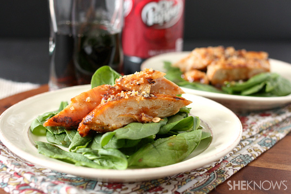 Dr. Pepper marinated grilled chicken
