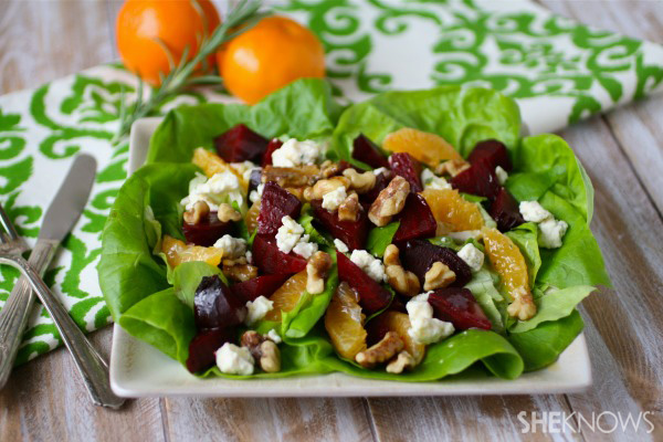 Meatless Monday: Roasted beet salad with tangerine-rosemary vinaigrette