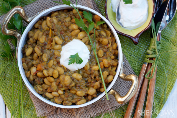 Curried beans are the way to go!