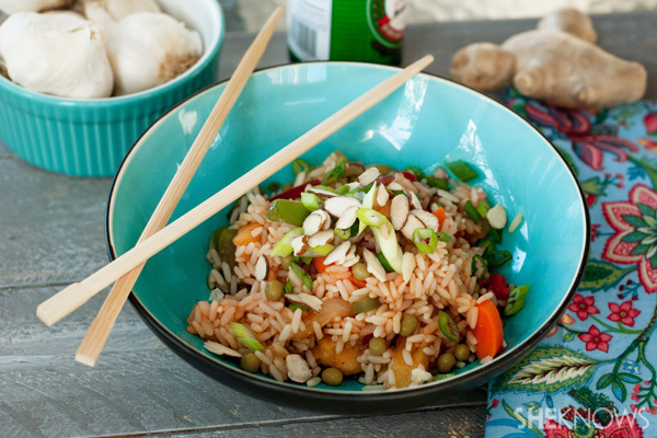 Easy homemade vegetable fried rice