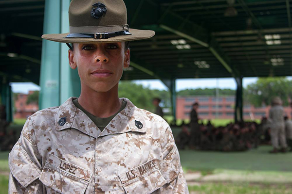 Marine drill sergeant mom Angela Lopez