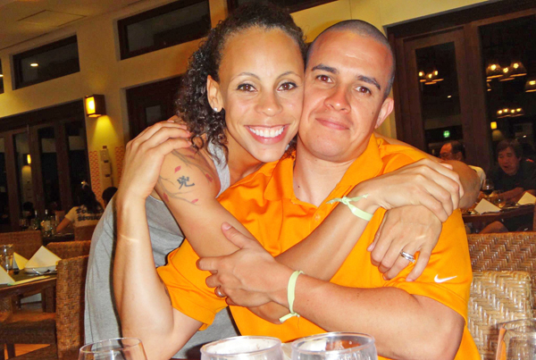 Angela Lopez and husband