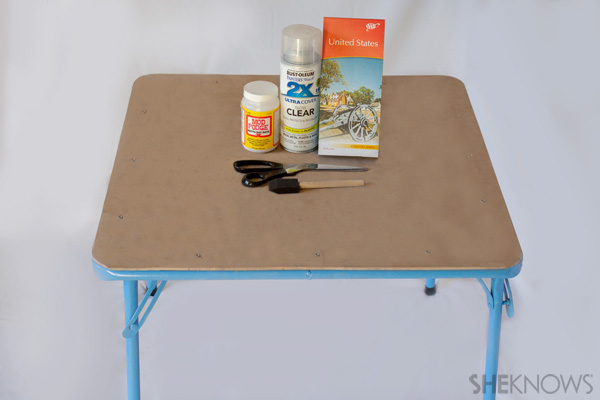 Play table makeover supplies