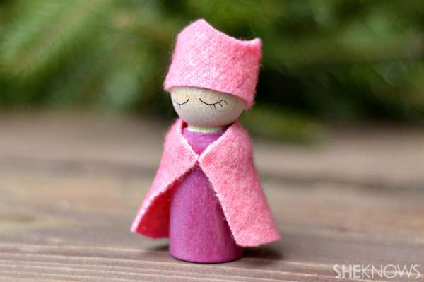 Waldorf peg doll craft