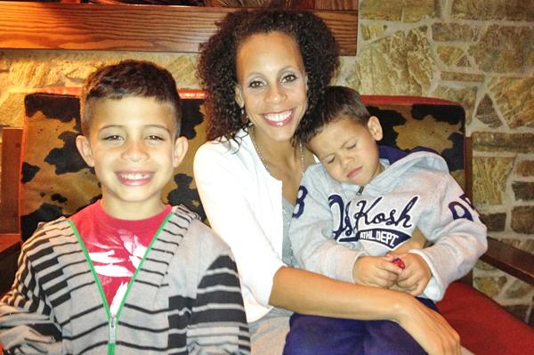 Angela Lopez and kids