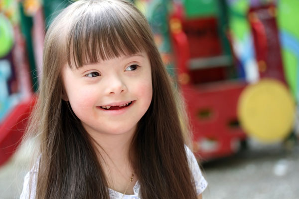 Girl with Down syndrome