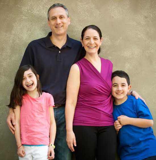 Jane Schwartzberg with her family