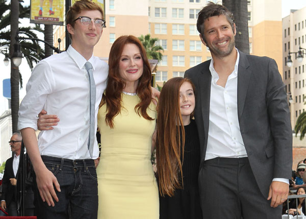 Julianne Moore and family