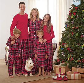 Plaid family Christmas jammies