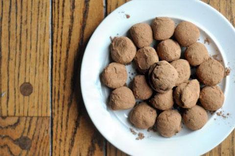 peppermint mocha truffles