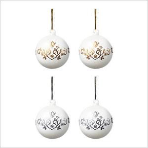 White ornaments