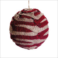 burlap ball ornament