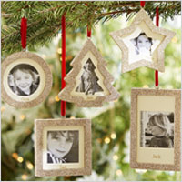 glitter frame ornaments