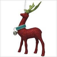 glittered reindeer