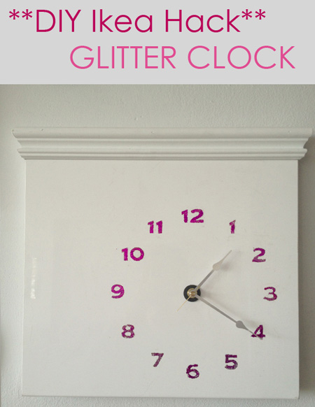 Glitter clock