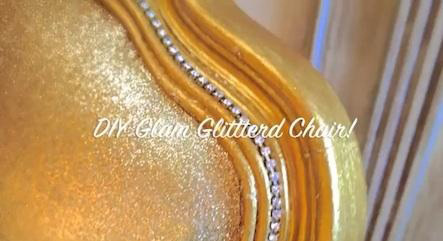 Upholstered glitter chair