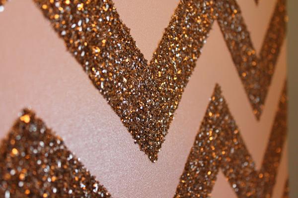 Glittered chevron