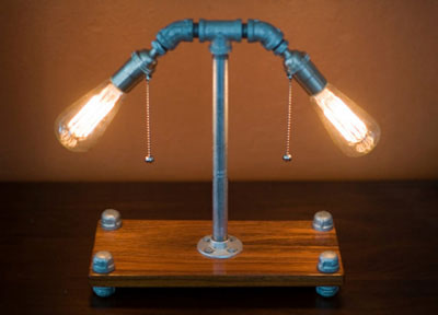 Galvanized steel lamp