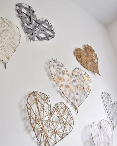 Wired heart art