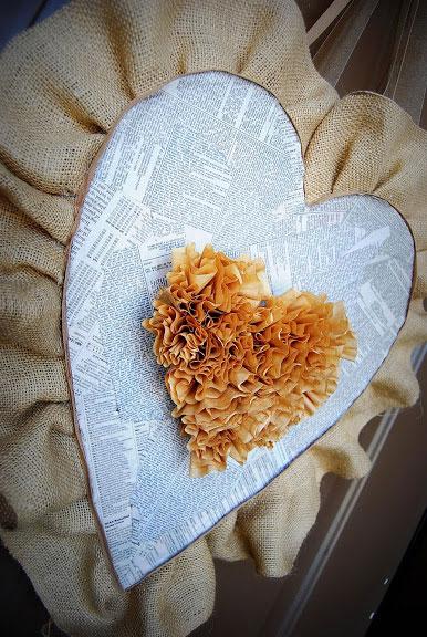 Burlap Valentine Heart
