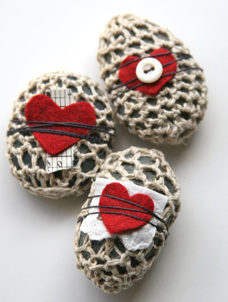 Crocheted rocks