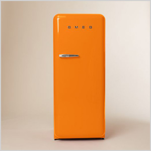 Orange refrigerator