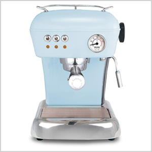 Blue espresso machine