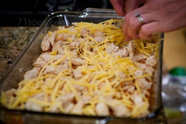 Chicken tamale bake